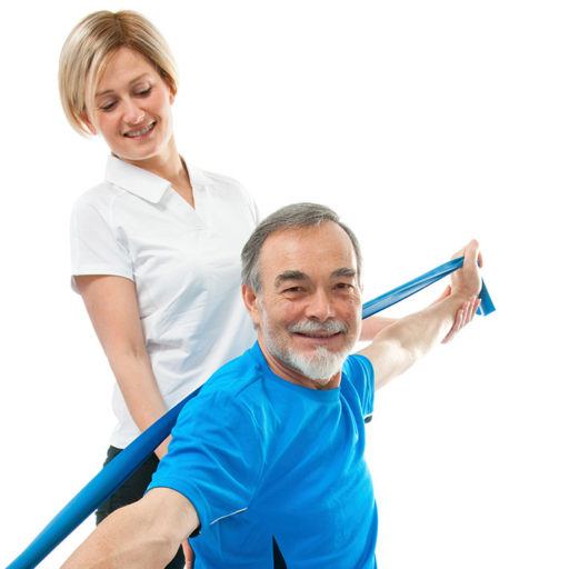 Physiotherapie mit Gummiband